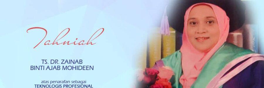 Berita Alumni: Ts. Dr. Zainab binti Ajab Mohideen